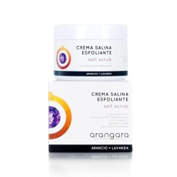 Exfoliating cream orange and lavander